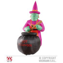 wholesale Other: WITCH WITH INFLATABLE GLOWING KESSEL 183 cm -