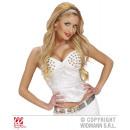 wholesale Erotic Clothing: WHITE CORSET STUDDED from satin