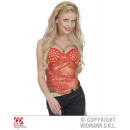 wholesale Erotic Clothing: RED CORSET STUDDED from satin
