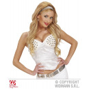 wholesale Erotic Clothing: WHITE CORSET WITH RIVETS in satin