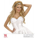 wholesale Erotic Clothing: WHITE CORSET WITH LACE AND sequins