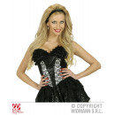 wholesale Erotic Clothing: BLACK CORSET WITH LACE AND PAILETTE