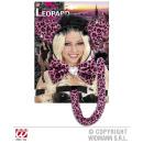 wholesale Toys: PINK LEOPARD  Dress-up Set  (ears, bow tie, ...