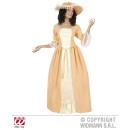 HOFDAME (Kleid mit Unterrock, Gürtel, Hut)