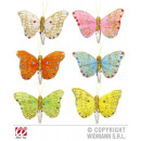 HAIRPAPTER BUTTERFLY sort. In 6 colors