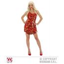 wholesale Dresses: RED GOLDEN PAILETTING DRESS