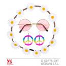 HIPPIE (flor del pelo cinta, pendientes, gafas)