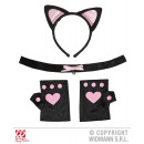 wholesale Toys: SET CAT pink  (ears, necklace, gloves)