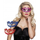 wholesale Toys: Eye mask Venice  glitter omo 3 colors assorted
