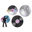 grossiste Maison et habitat: 4 décorations  disco assorti (28 x 28 cm)