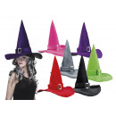 wholesale Toys: Hat Witch Kendra 6 colors assorted
