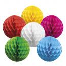 Honeycomb ball paper 6 colors assorted (25 cm)