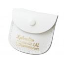 Lederetuis  Kommunion weiß 7 x 5,5 cm