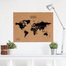nagyker Mappák és iratrendezők: Woody térkép XL 90 x 60 cm - fekete