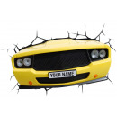 3D Cool Car Lamp (Yellow)