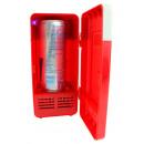 USB Desktop Refrigerator with LED Light - Red