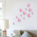 wholesale Wall Tattoos:3D Butterflies - Pink