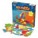 wholesale Toys: GeoPuzzle Europe 58 bits (ENG)