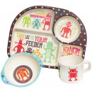 wholesale Child and Baby Equipment: Ecoffee Cup BimBamBoo Kids Eat Set - Robots