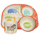 wholesale Child and Baby Equipment: Ecoffee Cup BimBamBoo Kids Eat Set, Wild Animals
