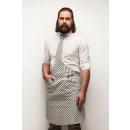 wholesale Shirts & Blouses: Tie & Tie Apron Apron Chef White-Blue Zebra