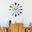 Walplus Spoon and Fork Wall Clock - 32cm