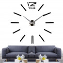 Walplus 3D DIY Vinyl Large Wall Clock - Black 130c