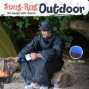 wholesale Bedlinen & Mattresses: Snug-Rug Outdoor Blanket with Hat - Blue