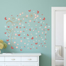 wholesale Wall Tattoos: Walplus Decoration Sticker Pink Butterflies Wine S