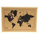 Milimetrado Weltkarte Cork Bulletin Board mit Holz