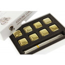 wholesale DVD & TV & Accessories: Whiskey Stones Stainless Steel Gold Color - Set of