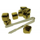 wholesale Consumer Electronics: Whiskey Stones Stainless Steel Gold Color - Set of