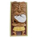 Rotary Hero Tiki Tissue Box Cover - Cream