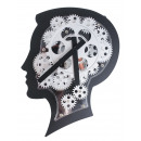 Brain Design Wall Clock With Moving Gears