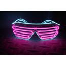 IA Pink and Aqua LED Light Up Glasses