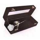 Silver Rose in Black Velvet Box