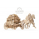 Ugears Wooden Model Building - Stage Coach