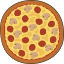 Giggle Beaver Pizza - Tee- und Küchentuch - 55x55