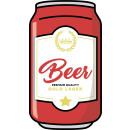 wholesale Bath & Towelling: Giggle Beaver Beer can - Bath towel - 150x81 cm
