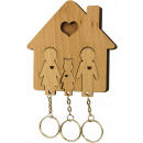 Key Holder with Key set - Family with