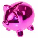 Großhandel Spardosen: Sparschwein Sparschwein - Fuchsia