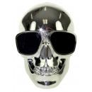 Skull Wireless Bluetooth Speaker - Silver