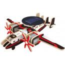 Robotime Solar Holzmodellbausatz mit Papierbeschic