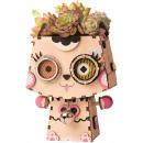 groothandel Tuin & Doe het zelf: Robotime Katje FT731, Houten modelbouw, Bloempot,