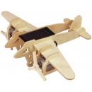 groothandel Modelbouw & miniaturen: Robotime Bomber Vliegtuig P330 met zonnecel- Houte