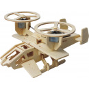 wholesale Wooden Toys: Robotime Samson P350 with solar cell - Wooden mode