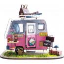 groothandel Geschenkartikelen: Robotime Vrolijke Camper DGM04, Houten modelbouw,