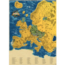 wholesale Decoration: Giftio - Scratch Map Europe - Gold - 90x66 cm