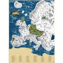 wholesale Decoration: Giftio - Scratch Map Europe - Platinum - 90x66