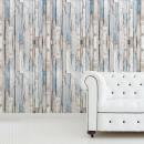 Walplus Wood Strips, Wall Decoration Sticker, Gray